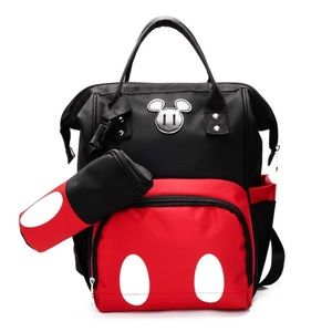 Mickey Mouse Large Capacity Backpack Diaper Bag